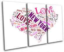 New York Heart I Love Typography - 13-0256(00B)-TR32-LO